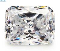 13x18mm 22.22ct Emerald Unheated White Zircon Diamonds Cut AAAAA VVS Loose Gems