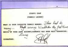 Steffi Graf Autograph Cut with Personal Notations