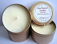 Highly Scented 100% Pure Soy Wax Candle Natural Fragrance 8oz Travel Tin