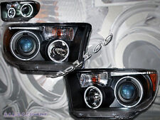 07-12 Toyota Tundra 08-11 Sequoia Dual CCfl Halo LED Black Projector Headlights