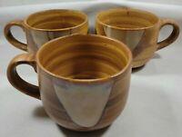 Sango Splash #4951 Drip Glaze Large Stoneware Mugs 3 Total
