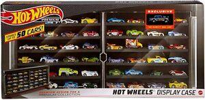 Hot Wheels Premium Display Case Storage Rack 50 Cars Chevy Bel Air Gasser NEW