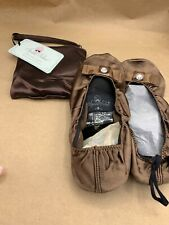 SPARE SOLES PORTABLE BALLERINA FLATS TRAVEL Large  9 - 10 Brown NEW