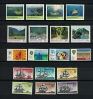 NZ325) New Zealand 1975 Offshore Islands, Anniversaries, Sailing Ships, Park MUH