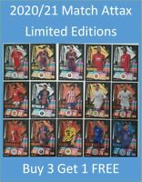 2020/21 Match Attax UEFA Limited Editions Buy 3 Get 1 FREE Messi Ronaldo Mbappe