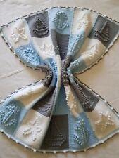 Copertina Neonato in lana fatta a mano