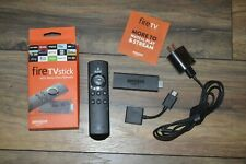 Amazon Fire Stick 0984 with Alexa Voice Remote 2nd Generation & Power Adapter