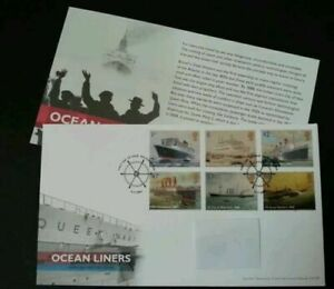 [SJ] Britain Ocean Liners 2004 Ship Vehicle Transport Transportation (stamp FDC)
