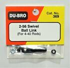 DU-BRO 2-56 SWIVEL BALL LINK FOR 4-40 RODS ( CAT. # 369 )