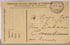 POSTA MILITARE 1^ DIVISIONE A 30.6.1916 #XP246