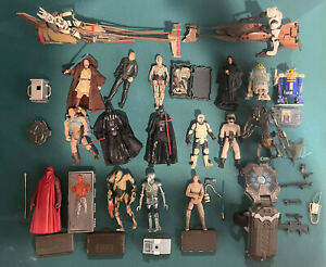 Hasbro Star Wars VC, POTF2 Action Figure Collection Lot Speeder Bike