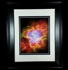 Hubble Telescope: Crab Nebula Chandra Spitzer Star Print (Matted & Framed NEW)