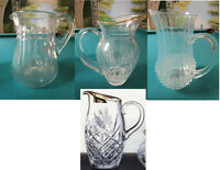 CRYSTAL PITCHERS, MARQUIS WATERFORD, BACCARAT, CRYSTAL D'ARQUES BLOCK -PICK 1