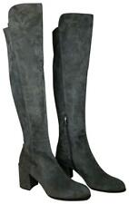 Stuart Weitzman women boots over knee Gray Suede OTK black heel Alljack 11