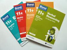 Bond 11+ 10 minute Tests English Maths Verbal Nonverbal Reasoning age 7-8 Year 3