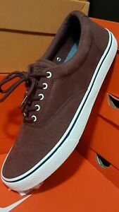 $160 NEW! Sperry Top Sider LEATHER BOAT SHOES Sz 10.5 COMFORT LIGHT SNEAKERS
