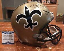Drew Brees Signed New Orleans Saints Replica Throwback Helmet SB XLIVMVP Beckett