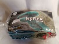 12 pairs of Ansell HyFlex 11-501 Latex palm Work Gloves Size 7 Small