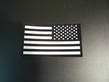 """New listing Reverse Usa Flag White On Ir Mb SolasX Patch 3.5""""X2"""" With Velcro® Brand Fastener"""