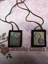 Saint Benedict Brown Medallion - Wool Scapular NEW