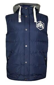 Arsenal FC Football Gilet Jacket Mens Large Retro Hoodie Body Warmer Hooded Top