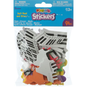 Foamies Stickers Music Theme Assorted Colors 91/Pack