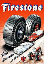 Art Ad     Cars Trucks Tractors  FIRESTONE Tire Automobile Poster Print