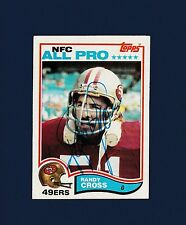 Randy Cross signed San Francisco 49ers 1982 Topps football card