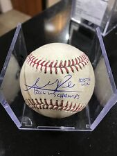 ADDISON RUSSEL SIGNED INSCRIBED 2016 WS CHAMPS 100 WIN A 1/1 BALL-  WS SHORTSTOP