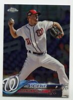 2018 Topps Chrome MAX SCHERZER Rare BASE BASEBALL CARD #145 Washington Nationals