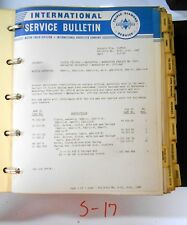 Vintage 1947 International Truck Service Bulletins Supplements Manual