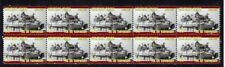 MILITARY TANKS STRIP OF 10 MINT VIGNETTE STAMPS, VALENTINE MkIII
