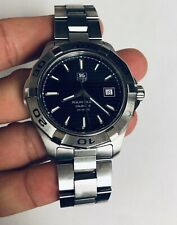 TAG HEUER AQUARACER CALIBRE 5 AUTOMATIC STAINLESS STEEL WRISTWATCH WAP2010