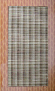 3'x7' Yoga Mat Floor Mat Brown Color Living Room Hand woven Woolen Kilim Rug