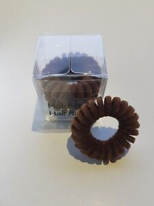 Hold It Hair Rings Brown Velvet Spiral Hair Bands Stretchy Bobbles Hair Band