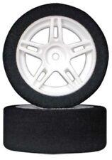 26mm Foam Tires (40 shore) w/White Rims (Set of 2) - 12mm Hex - IMEX #7603