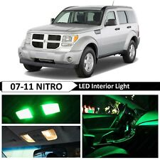14x Green Interior License Plate LED Light Package Kit For 2007-2011 Dodge Nitro