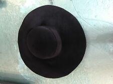 EUGENIA KIM Wide-Brim Sombrero Negro NUEVO CON ETIQUETA MEDIANO 2031-4791