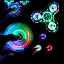 Luminous LED light Fidget Spinner Hand Top Spinners Glow in Dark Light EDC Figet
