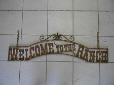 "Rustic ""Welcome To The Ranch"" Twisted Metal Sign"