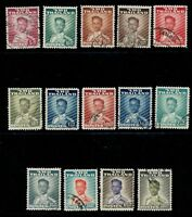 1951-60 Thailand King Bhumibol Definitive Issue Complete Set Used Sc#283-95