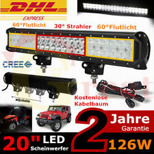 """20"""" 126W LED Work Light Bar Combo Off road Driving Jeep SUV Truck 4WD 120w/180w"""