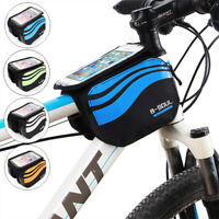 Cycling Mountain Bike Bicycle Frame Front Tubes Bags Phone Holder Cases Pouch