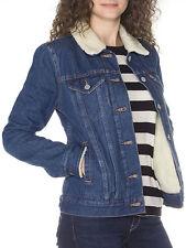 Levi's Women's Sherpa Trucker Jacket All Sizes COLOR DARK BLUE