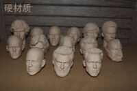 1/6 Unpainted Head Carving Male Head Sculpt Head Model 12'' Figure Accessories