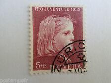 SUISSE - 1953, timbre 539, TABLEAU PORTRAIT d' ENFANT ANKER, PAINTING, oblitéré