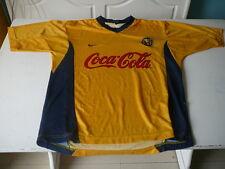 maillot de football Club America Mexico jersey camiseta M  jaune vintage