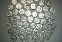 Lot 25 ROOSEVELT DIMES 90% Silver Coins RANDOM DATES Shipping Discount #RDr25