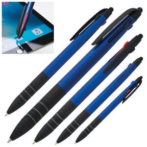 10 Stück 3 Farb Kugelschreiber Kulis Touch Punkt Schreibfarbe rot schwarz blau