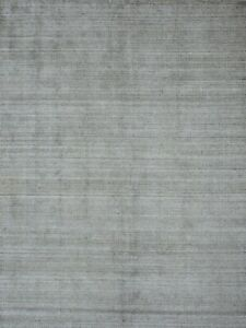 5'6 x 8' Rug | Handmade Grass Dhurrie Pet Charcoal Area Rug